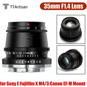 TTArtisan-35mm-F1-4-Fixed-MF-Lens-for-Sony-E-Fujifilm-X-M4-3-Canon-EF-M-Mount
