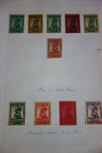 Belgium-Stamps-B25-32-Lot-of-Plate-Proofs-and-Imperf-Plate-Proofs