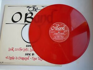 THE-O-BAND-Look-To-The-Left-UK-12-034-single-PS-1977-near-mint-ex-red-vinyl