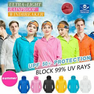 Uomini-Donne-giacche-antivento-ultra-light-Sunproof-Idrorepellente-Giacca-A-Vento-Top-Nuovo