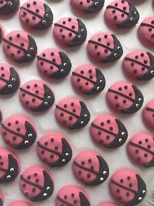 24-Edible-Large-Ladybug-Sugar-Cupcake-Toppers-Cakes-Icing-Garden-Cake-Fondant