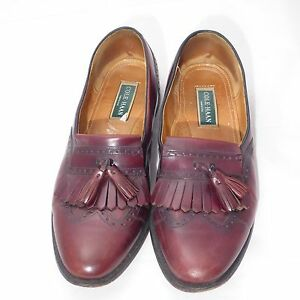 2f7a7f5d0eb Image is loading Cole-Haan-USA-Burgundy-Leather-Kiltie-Tassel-Wingtip-
