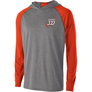 Columbia 300 Men's Cuda Performance Hoody Bowling Shirt Dri-Fit Carbon orange