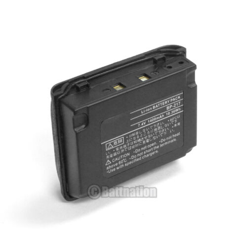 BP-217 BP-217Li 7.4V 1400 mAh Li-ion Battery for ICOM IC-80AD 91A 91AD T90 T90A