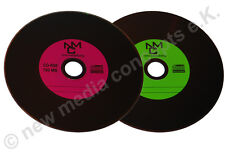 Vinyl CD-R Carbon10 Stück in Cake,700 MB zum archivieren, Dye schwarz Grün/Lila