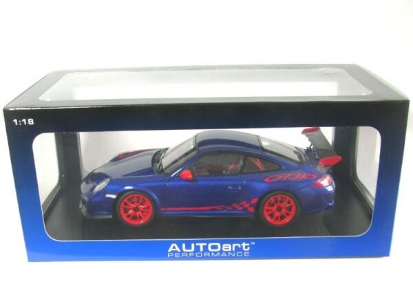 Porsche 911 GT3 Rs 3.8 (bluee with Red Stripes) 2010