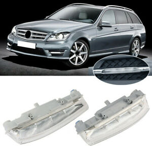 For-Mercedes-Benz-W204-W212-LED-Daytime-Running-Lights-DRL-Front-Bumper-Fog-Lamp