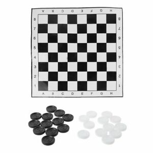 Portable-International-Checkers-Chess-Foldable-Draughts-White-amp-Black-Board-Game