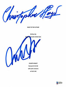 AUTOGRAPHED-MICHAEL-J-FOX-CHRISTOPHER-LLOYD-SIGNED-BACK-TO-THE-FUTURE-SCRIPT-BAS
