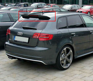 spoiler audi a3 8p sportback 05 12 roof rear spoiler rs3. Black Bedroom Furniture Sets. Home Design Ideas
