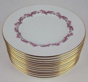 Set-12-x-Salad-Plates-7-3-4-034-Minton-Pink-Laurentian-S-659-vintage-England