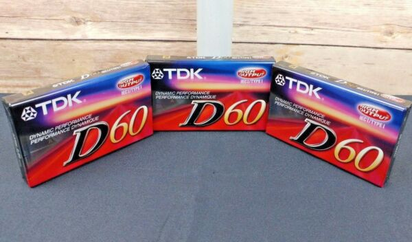 New Tdk D60 Audio Cassettes 60 Min High Output Ieci/type I Sealed Lot Of 3 Obstructie Verwijderen