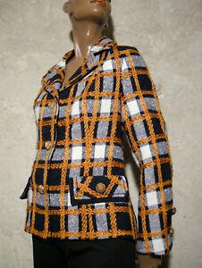 Veste 42 de Jacket Laine Courte 1960 chic Vtg True vintage 60s Robe 60s SqATvw