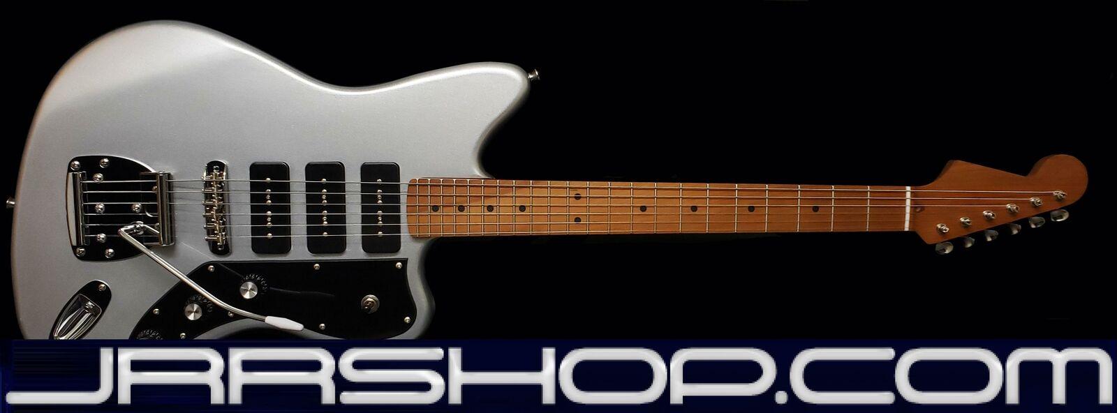 Tone Bakery Jazzbird Warmoth Roasted Neck & Seymour Duncan Pickups - Metallic Si