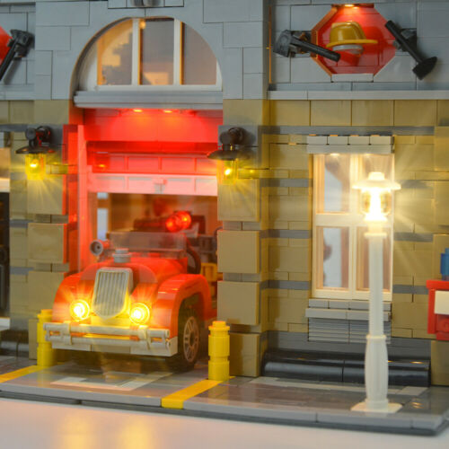 LED Licht Set Für Creator Modular Fire Brigade LEGO 10197 Beleuchtungs Kit
