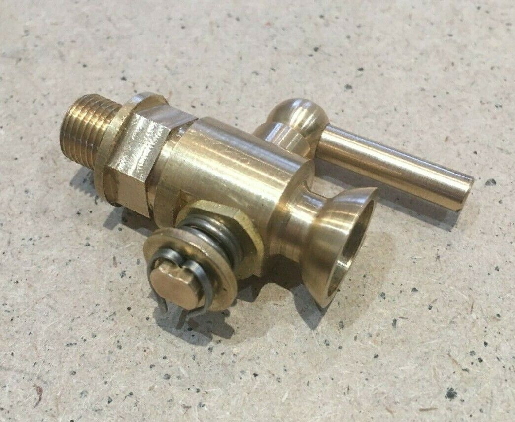 Fuel Priming / Oil Lub Tap PTFE Sealed 1/8 BSP Thread British Made.