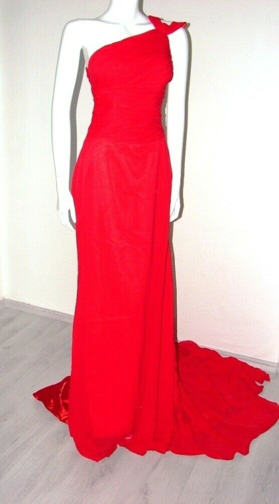 LightInTheBox Abendkleid Ballkleid mit Pinsenzug Gr. XS 32-34 32-34 32-34 rot Neu 0fc0e1