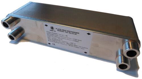 Plattenwärmetauscher Wärmetauscher Edelstahl NORDIC TEC 90-210kW Serie Ba-23 3//4