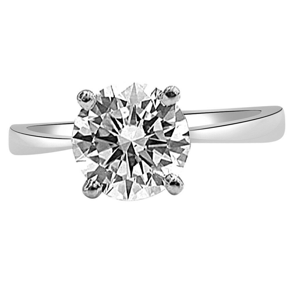 0.07ct Round Diamond IGL CERT Solitaire 14kt White gold Engagement Ring (276B)