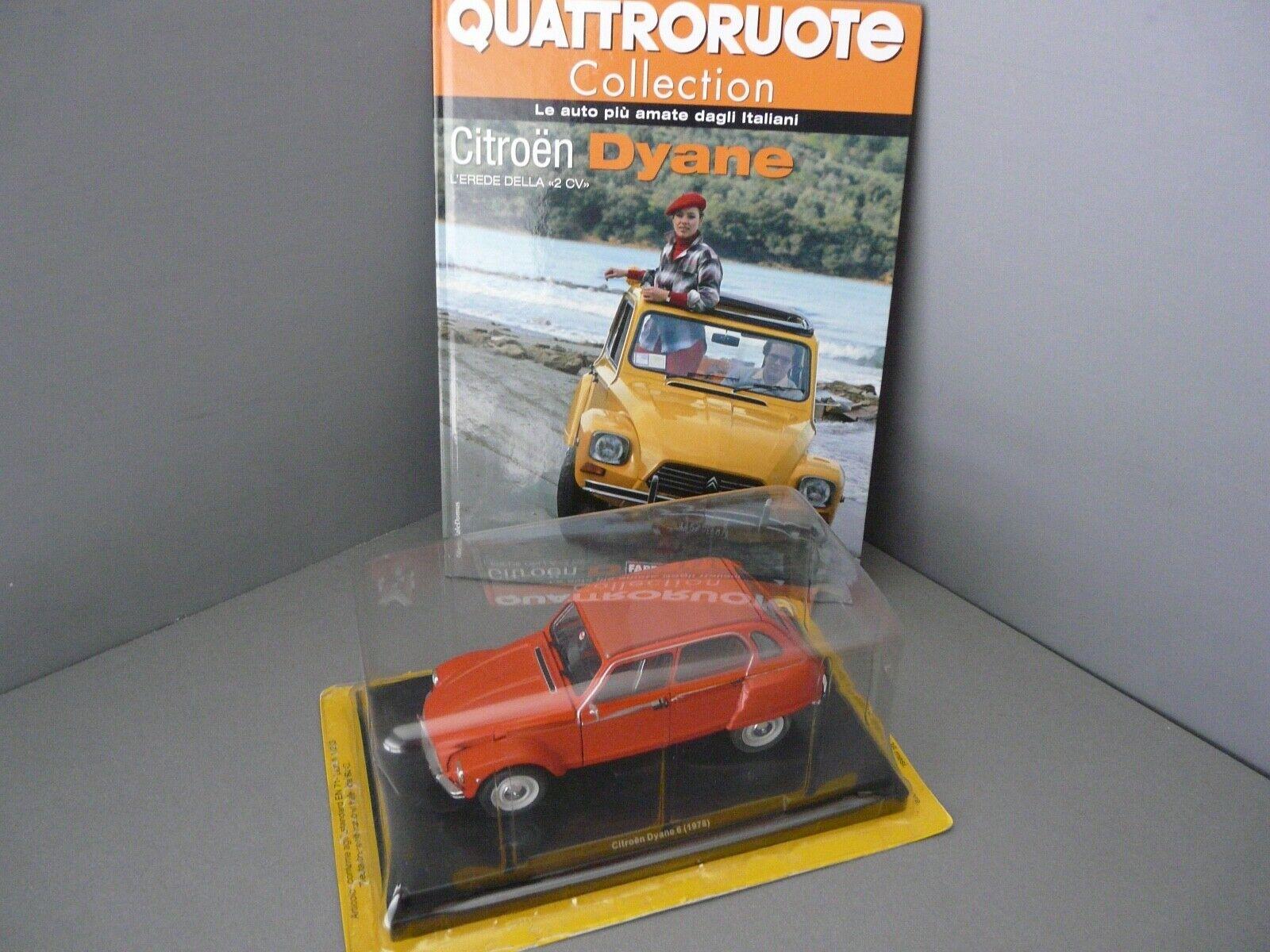 1 24 - Quattroruote METRO - 1978 CITROEN DYANE 6-Orange AVEC LIVRE (en italien)