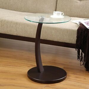 Accent Living Room Round Snack Side Sofa Table Stand Round