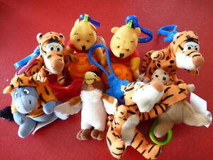 Lot-of-8-PVC-amp-Plush-Keyring-Toys-Winnie-the-Pooh-McDonald-039-s-Classic-2-039-039