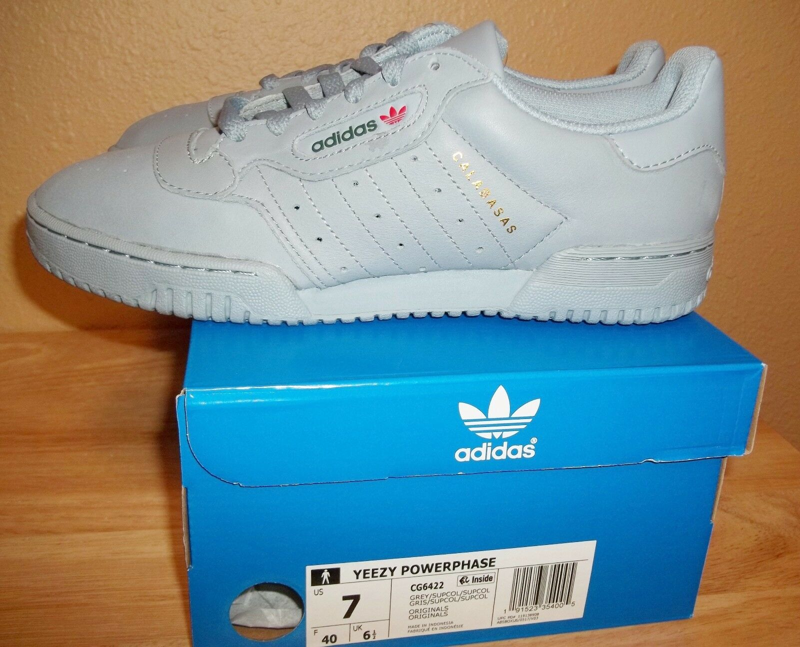 Adidas Yeezy Powerphase Grey Shoes Kanye West CG6422 New NIB size Men's US 7