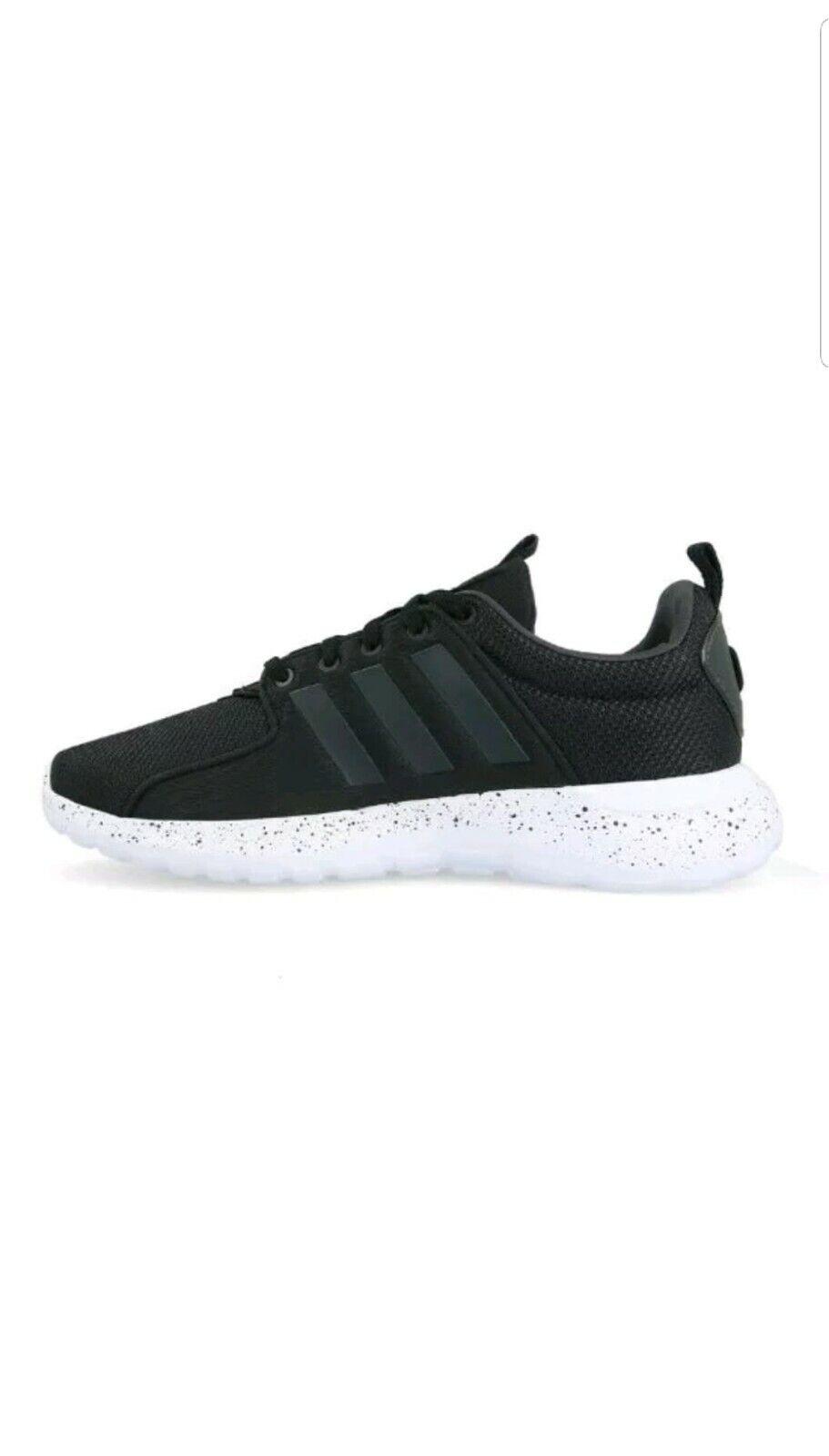 Men Adidas Cloudfoam Lite Racer Lace Up shoes Black White DB0594 Size 10.5