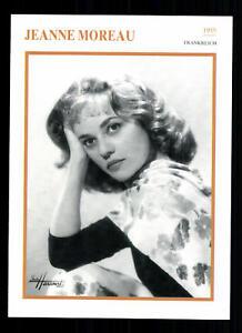 80er Jahre Top G 21563 Exquisite Handwerkskunst; Jeanne Moreau Starportraitkarte