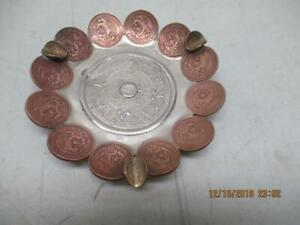 Vintage Mexican Coins Aztec Calendar Ashtray Made in Mexico