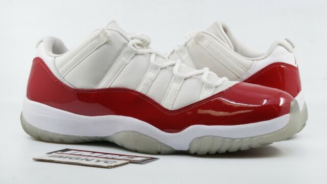 the latest 1442e 0feea AIR JORDAN XI 11 RETRO LOW USED SIZE 14 CHERRY WHITE VARSITY RED 528895 102