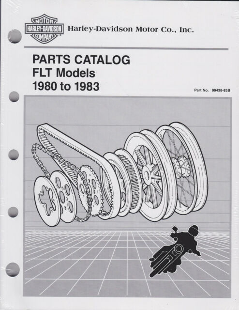 Harley Davidson 1980 to 1983 FLT Models Parts Catalog 99438-83b