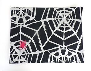 Halloween-Placemat-Spiderweb-Cotton-Black-Silver-Red-Spider-Holiday-Dining-Table