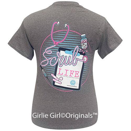 Girlie Girl Originals Tees Scrub Life Graphite Short Sleeve T-Shirt - 2204