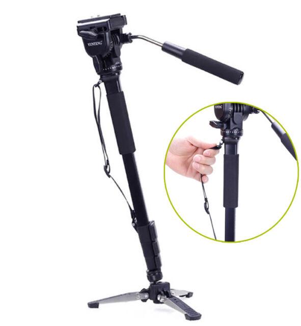 YUNTENG 288 Camera Monopod + Fluid Pan Head + Unipod Holder tripod +Phone clip