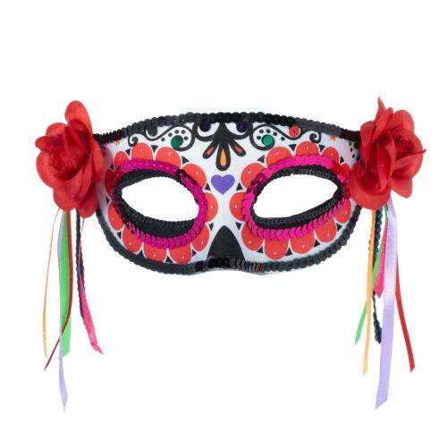 Halloween Day Of The Dead Face,Eye Mask Mexican Dias Sugar Skull Half Mask Veil