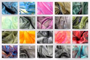 Two tone sheer organza dress fabric ttsheerorg m ebay for Sheer galaxy fabric