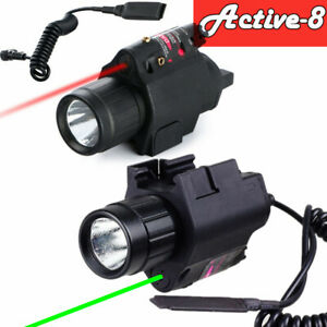 Green//RED Laser Sight Combo LED Flashlight Picatinny Rail for Tactical Hunting
