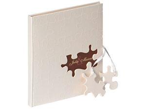 Gästebuch Hochzeitsbuch Puzzle 23x25 Cm Leinen Weiß Ausschnitt Hochzeit Fotoalben & -archivierung Fotoalben & -boxen