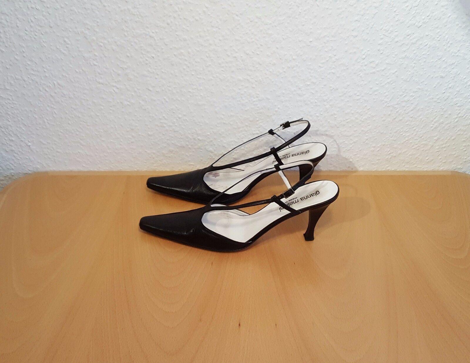 Gianna Meliani High Heels Pumps Damenschuhe Fersenriemchen Gr. 39 - cm 9 cm - Absätze d1ffcd