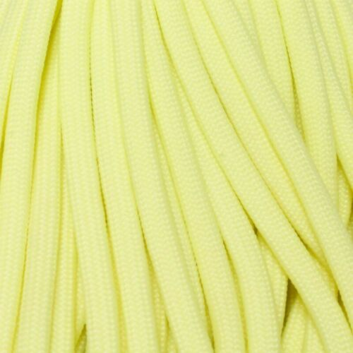 550 Paracord ParaGlow Light Yellow 100 FT USA MADE /& SELLER same day shipping