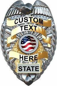 Details about Custom Police badge vinyl graphic decal for squad car set of 2