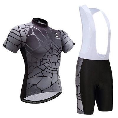 Men Skull Bike Short Sleeve Sportswear Bike Clothing Bib Shorts Set S-5XL