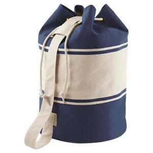 Kleidung & Accessoires PüNktlich Quadra Canvas Duffle Bag Drawcord Closure 100% Cotton Travel Eco Backpack Unisex