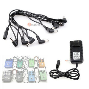 guitar effects pedal 8ch multi plug daisy chain cable with 9v dc adapter us plug ebay. Black Bedroom Furniture Sets. Home Design Ideas