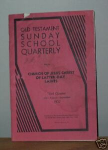 Details about OLD TESTAMENT SUNDAY SCHOOL QUARTERLY Mormon Book 1937