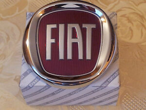 fregio stemma logo fiat anteriore grande punto originale 95mm emblem badge ebay. Black Bedroom Furniture Sets. Home Design Ideas