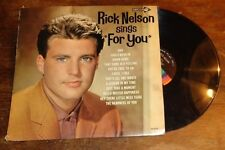 """Rick Nelson sings """"For You"""" record album"""