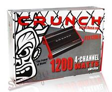 Crunch PZX1200.4 1200 watt 4 Channel Car Power Amplifier  Class AB/4CH