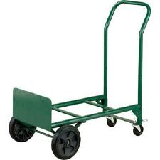 Convertible Hand Truck 2 In 1 Dolly Steel 400 Lbs Capacity Swivel Casters Green
